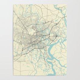 Ho Chi Minh Vietnam City Map Poster