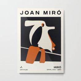 Joan Miro - Untitled - Exhibition Poster - Art Print - Vintage Painting Metal Print