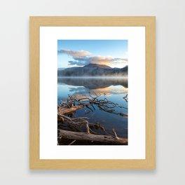 Misty Mountain Morning Reflection Framed Art Print