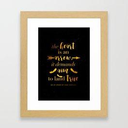 The Heart Is An Arrow - Six of Crows Leigh Bardugo (B) Framed Art Print