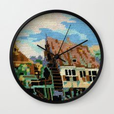 Found Tapestry Mill Wall Clock