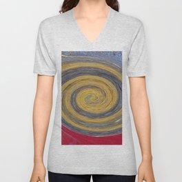 Swirl 02 - Colors of Rust / RostArt Unisex V-Neck