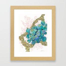 Sea Bulbs Framed Art Print