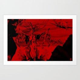 a vampire Art Print