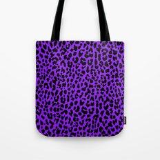 Neon Purple Leopard Tote Bag