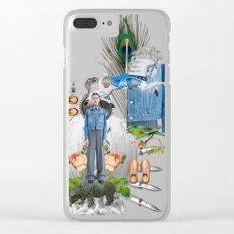 Jeans by Lenka Laskoradova Clear iPhone Case