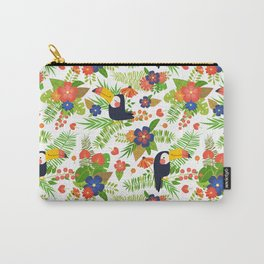 Toucans & Tropical Flowers Carry-All Pouch