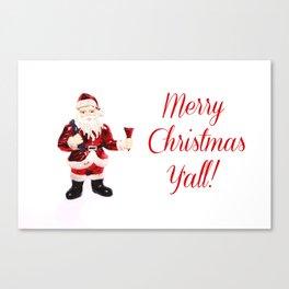 Merry Christmas Y'all Santa Canvas Print
