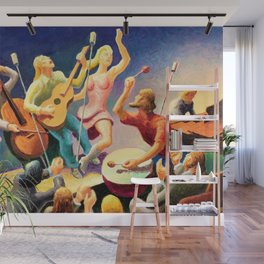 Classical Masterpiece 'Youth Music' by Thomas Hart Benton Wall Mural