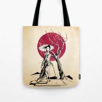 geisha Tote Bags featuring Geisha by Rafapasta