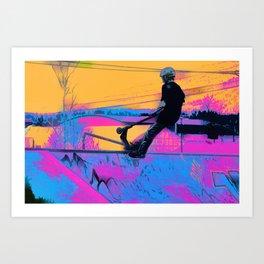 On Edge -  Stunt Scooter Artwork Art Print