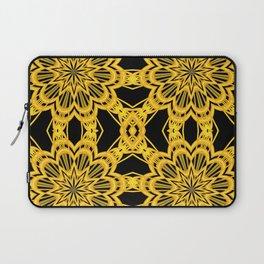 3-D Look Golden Kaleidoscopes Mandalas Flowers Laptop Sleeve