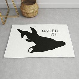 Hammerhead Shark Nailed It! Rug