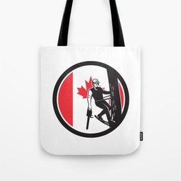 Canadian Tree Surgeon Canada Flag Icon Tote Bag