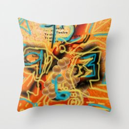 An Orange Clock Pun Throw Pillow