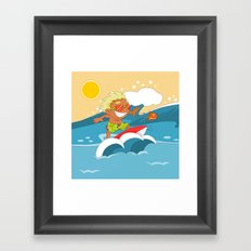 Non Olympic Sports: Surfing Framed Art Print