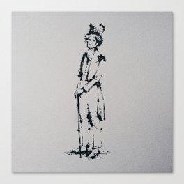 Splaaash Series - Dandy Sir Ink Canvas Print