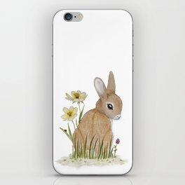 Rabbit Among the Flowers iPhone Skin