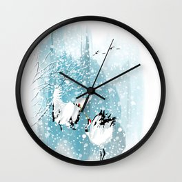 Dancing in the snow Wall Clock