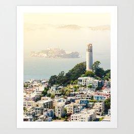 San Francisco View of Coit Tower Art Print