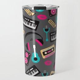 Jazz music instruments and sounds pattern Travel Mug