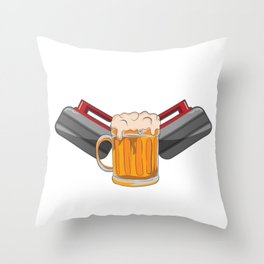 Curling Player Beer Lover Stone Hobby Gift Throw Pillow