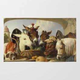 Edwin Landseer -  A Group Of Animals  Genevacirca Rug
