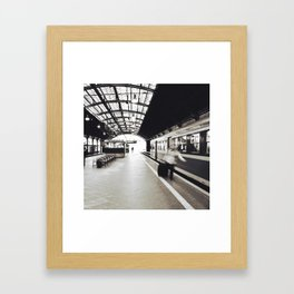 Train Station Framed Art Print