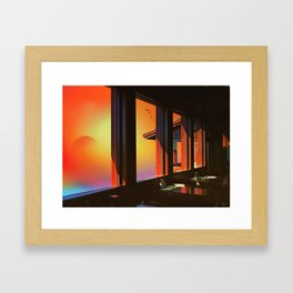 Psilocybin sky Framed Art Print