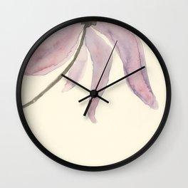 Romantic Watercolor Flower Wall Clock