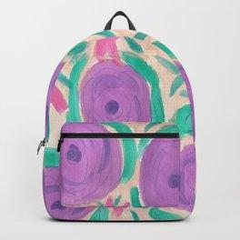 Beachy Floral Boho Print Backpack
