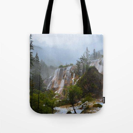 waterfall #society6 Tote Bag