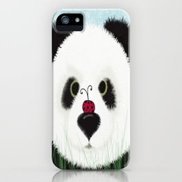 The Panda Bear And His Visitor iPhone Case