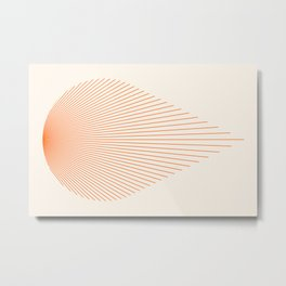 Abstraction_SUN_LINE_SHINE_POP_ART_011W Metal Print