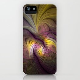 Unity, Abstract Colorful Fractal Art iPhone Case