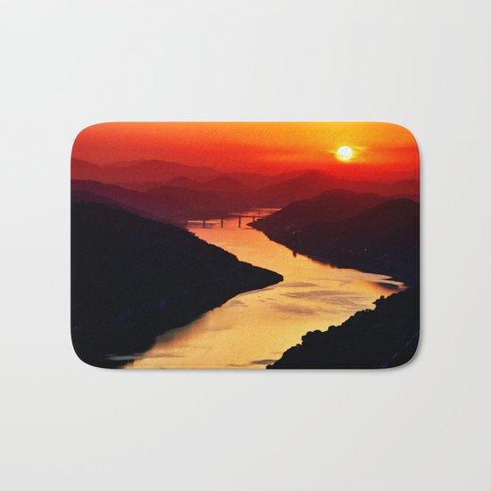 Sunset at the River Bath Mat