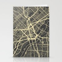 dallas Stationery Cards featuring Dallas map by Map Map Maps