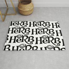 Herb pattern Rug