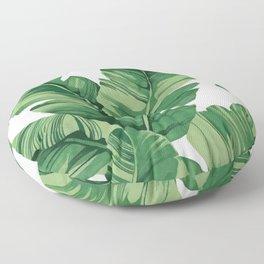 Tropical banana leaves Floor Pillow