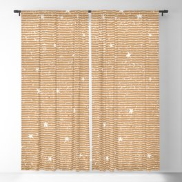 Sideral Heavens - Gold Blackout Curtain