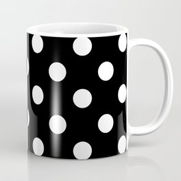 POLKADOTS (BLACK-WHITE) Coffee Mug