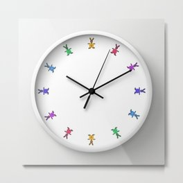 easter time - clock design o2 Metal Print