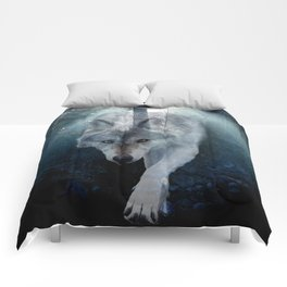 The Gathering - Wolf and Eagle Comforters