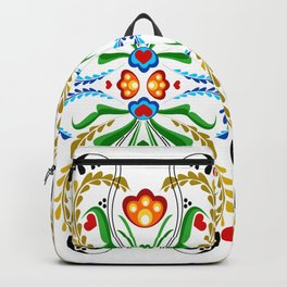 Scandinavian Folk Art ~ Tulip Mosaic Backpack