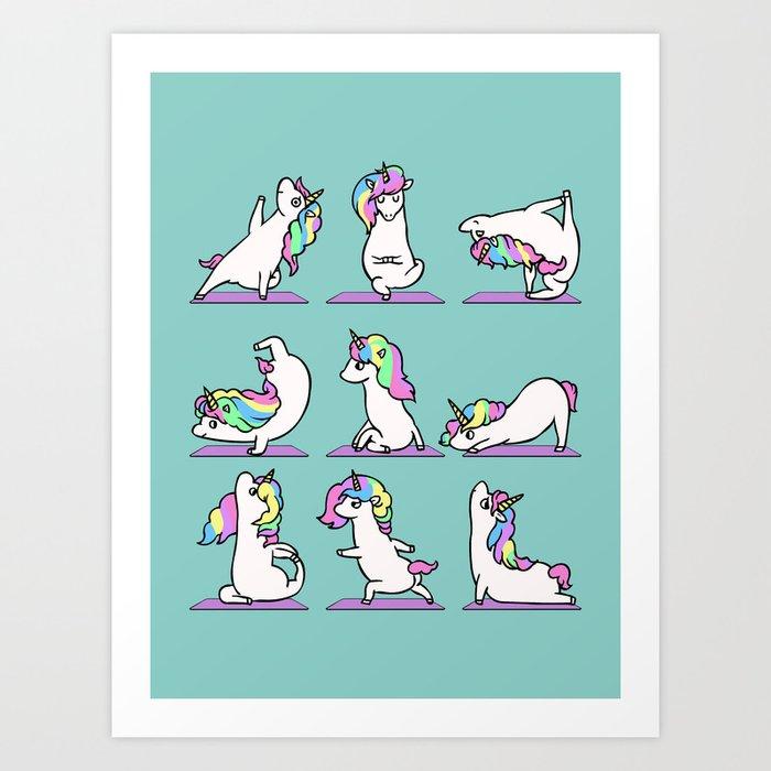 Unicorn Yoga Kunstdrucke