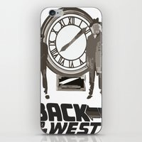 back to the future iPhone & iPod Skins featuring BACK TO THE FUTURE by Rocky Rock