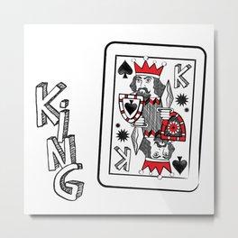 King of Spades Metal Print