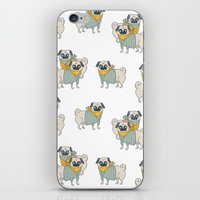 pugs iPhone & iPod Skins featuring Pugs by Ann Rubin