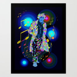 beethoven was deaf, but he could see music! Art Print