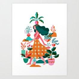 Garden Lady 1 Art Print
